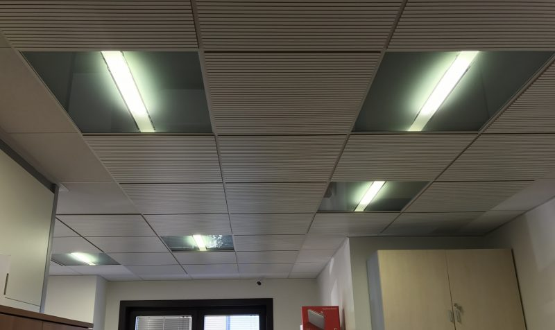 Controsoffitto con pannelli led 60x60